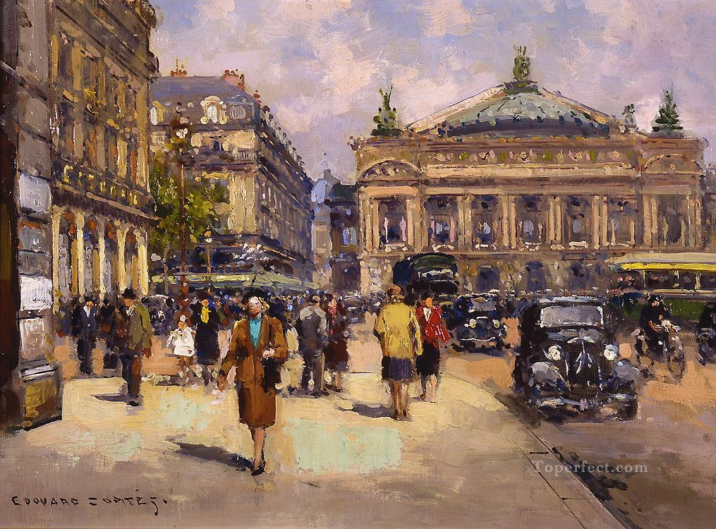 EC place de l opera 3 Parisian Oil Paintings