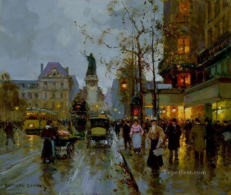 EC place de la republique 5 Parisian Oil Paintings