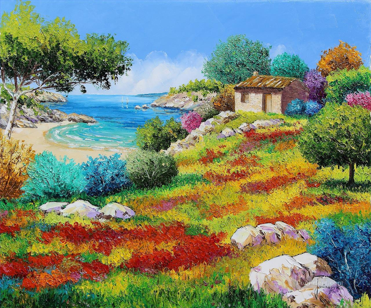 Shed from the beach garden Oil Paintings