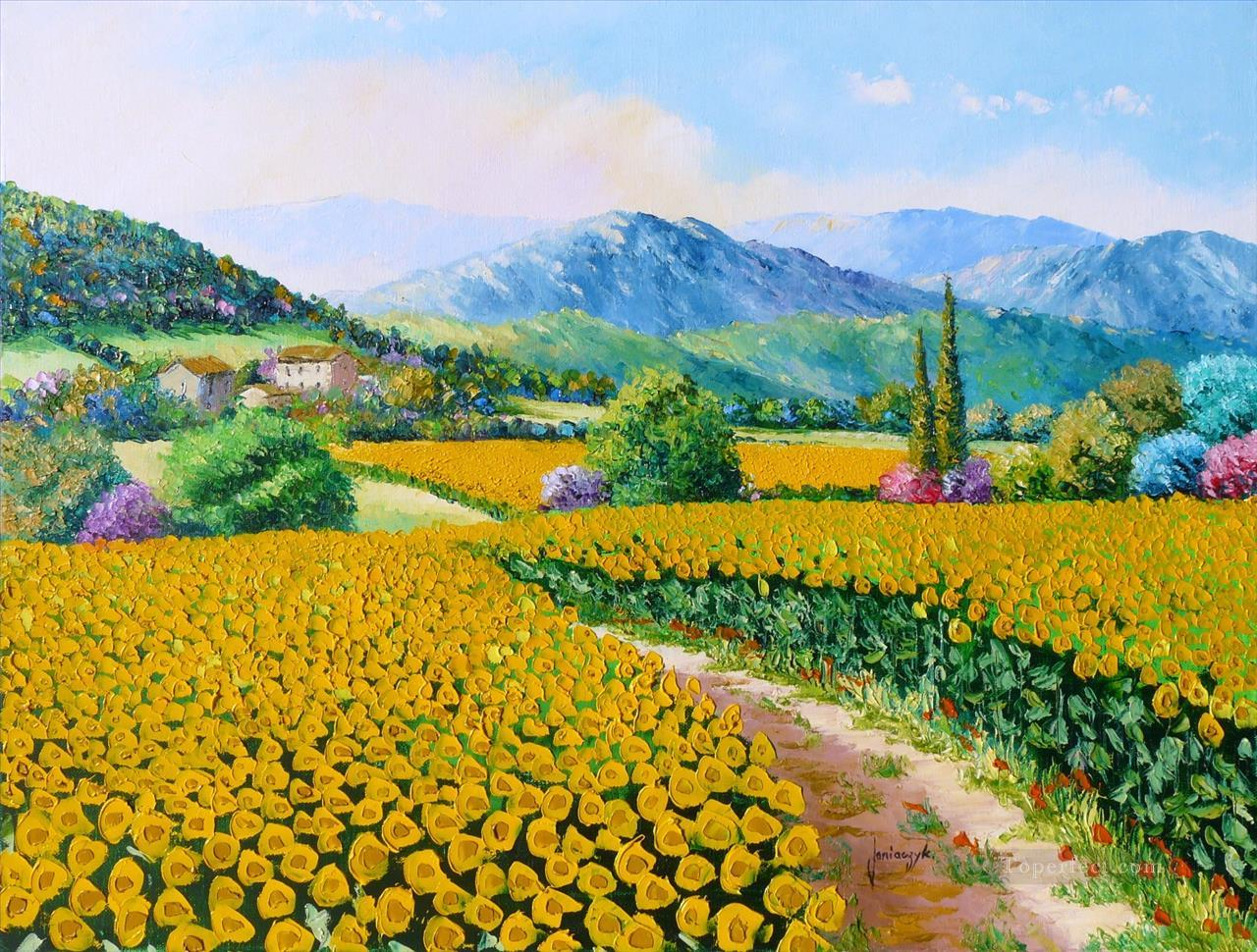 Sunflowers garden Oil Paintings