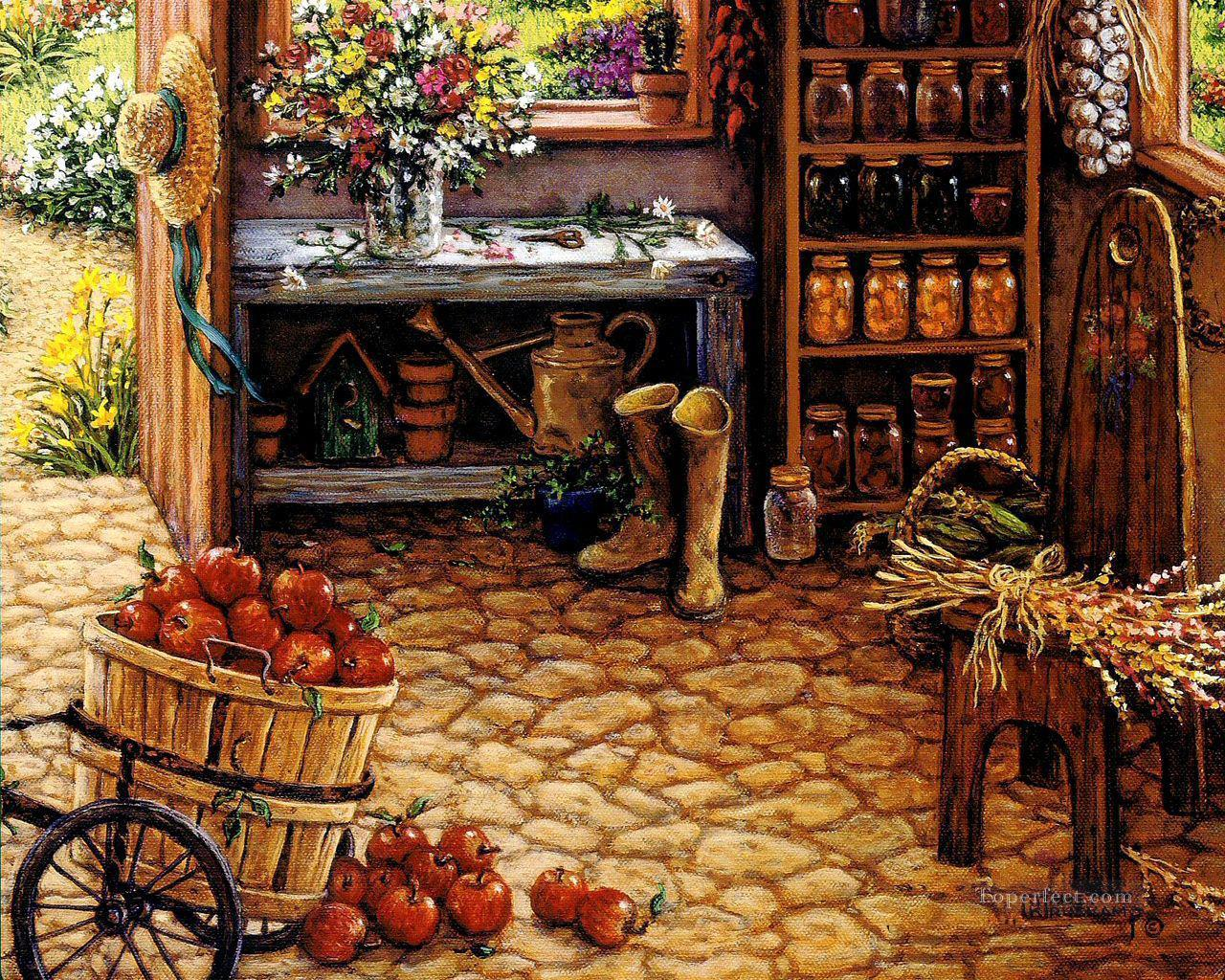 gardening room Oil Paintings