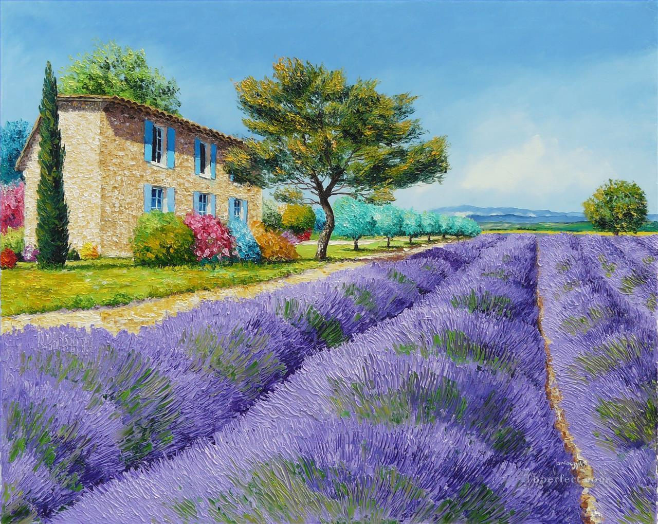 PLS07 beautiful landscape garden Oil Paintings