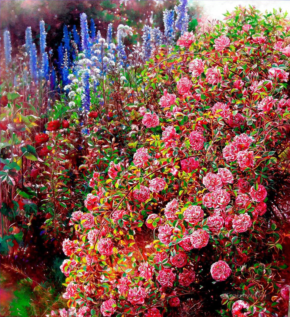 yxf064bE BT garden Oil Paintings