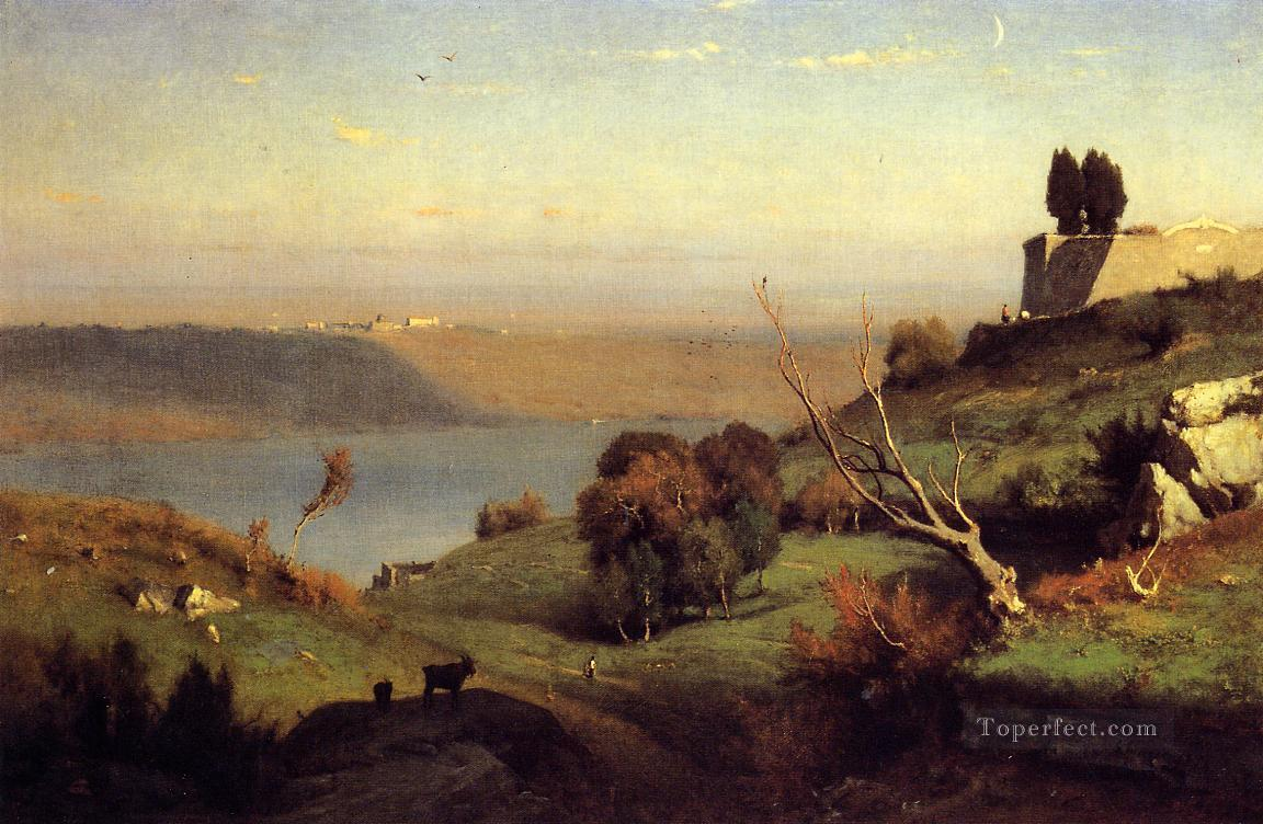 Castel Gandolfo landscape Tonalist George Inness Oil Paintings