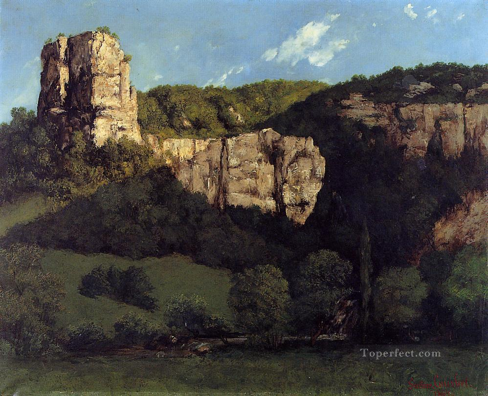 Landscape Bald Rock in the Valley of Ornans Realism Gustave Courbet Mountain Oil Paintings