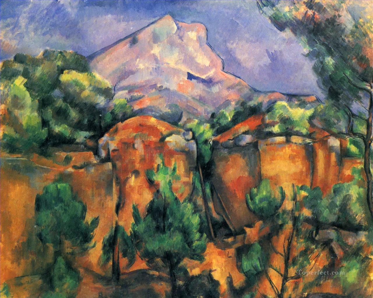 Mont Sainte Victoire 1897 Paul Cezanne Mountain Oil Paintings