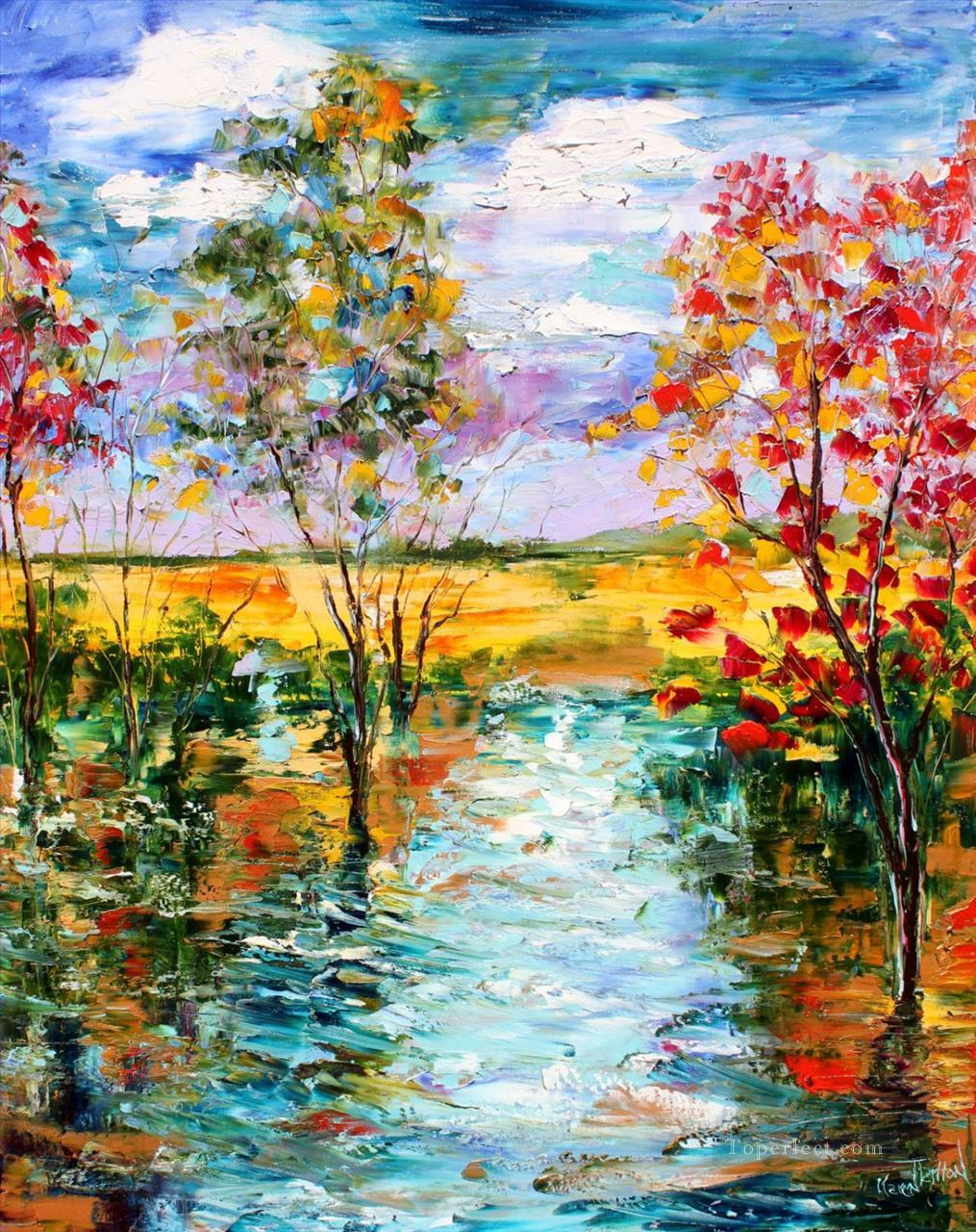 First light of day scenery painting in oil for sale for Oil painting scenery
