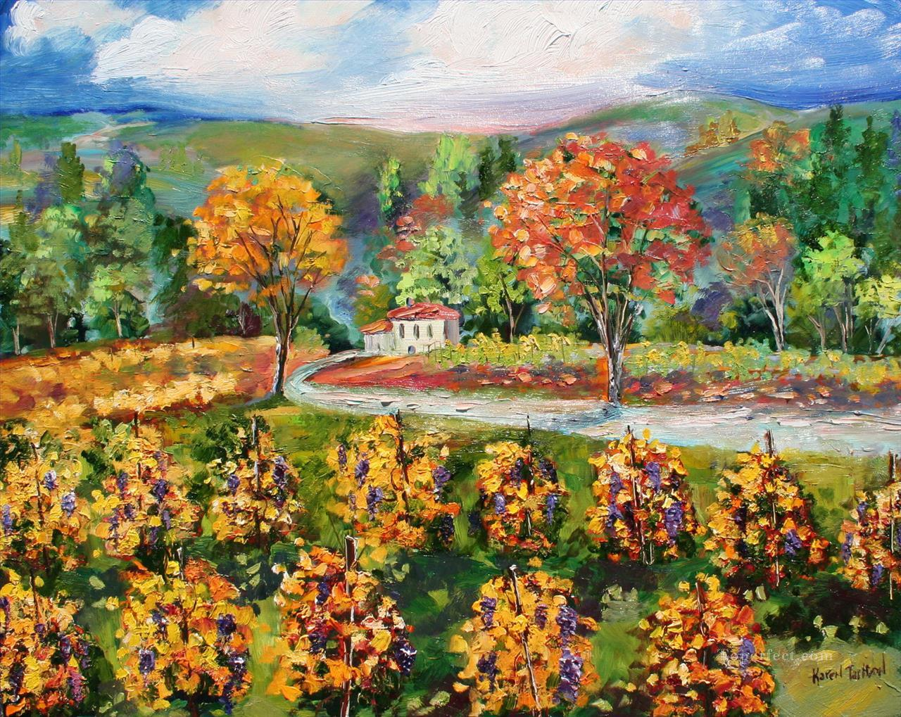 Napa Vineyard Glow scenery Oil Paintings