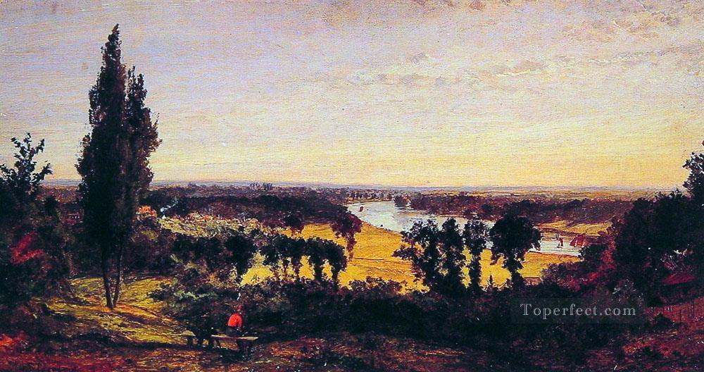 Richmond Hill and the Thames London landscape Jasper Francis Cropsey Oil Paintings
