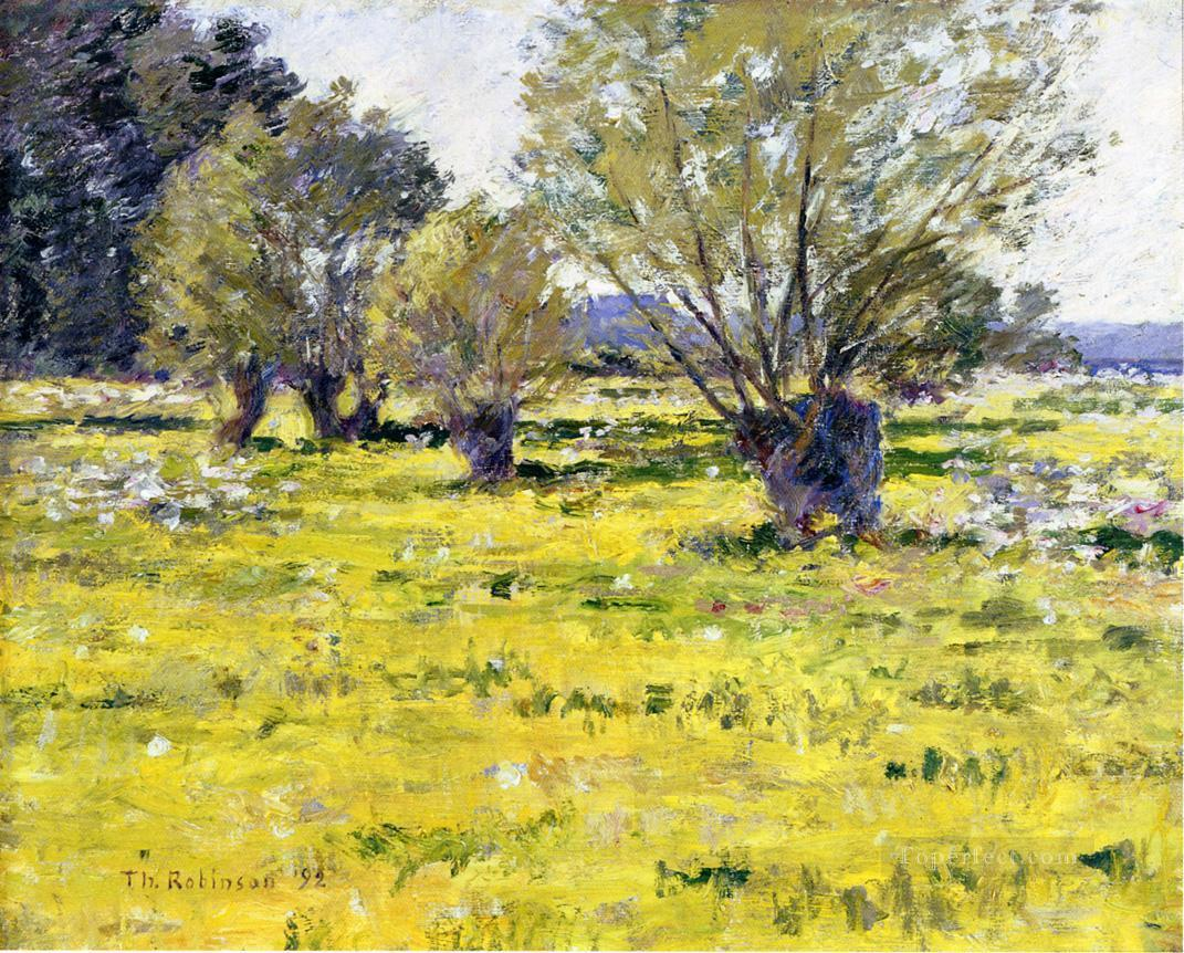 Willows and Wildflowers impressionism landscape Theodore Robinson Oil Paintings