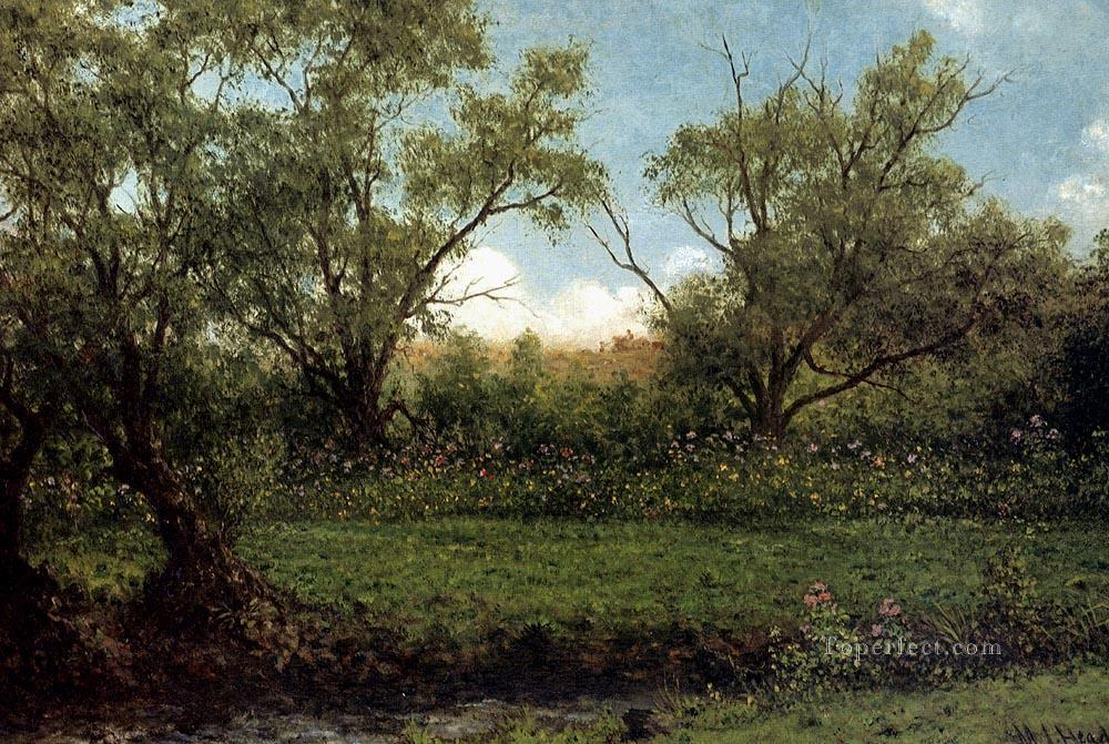Brookside Romantic Martin Johnson Heade scenery Oil Paintings