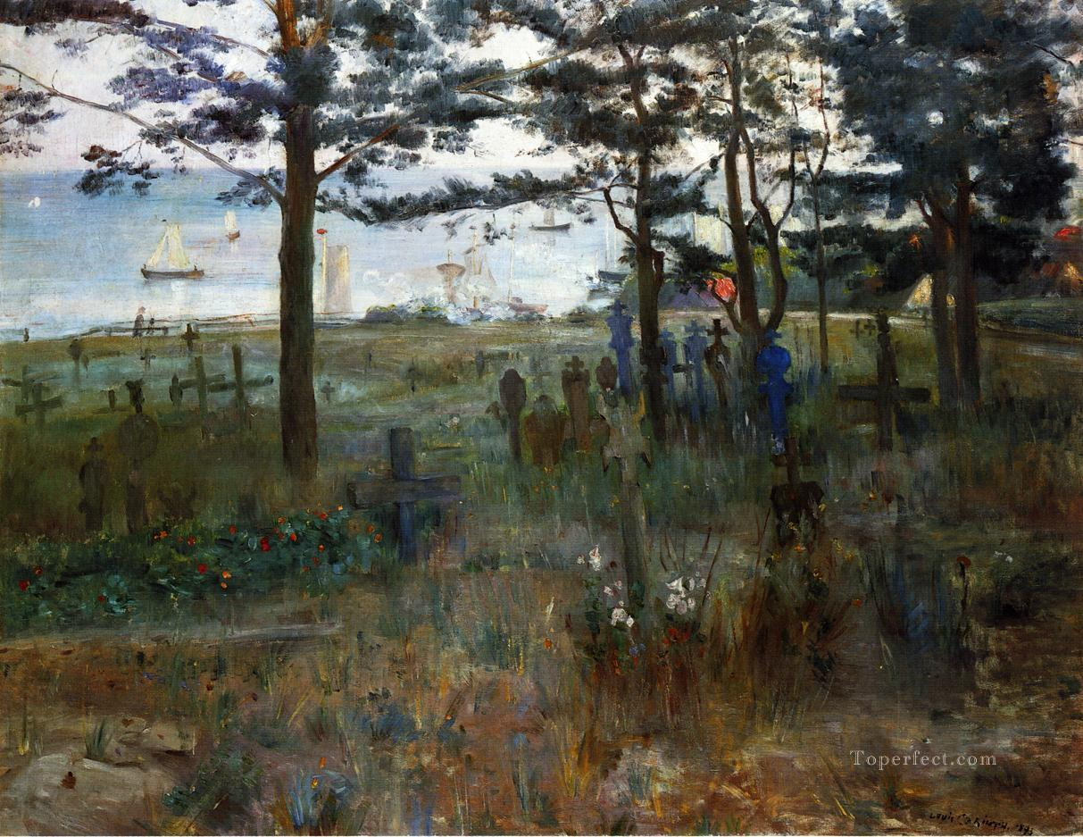 Fishermens Cemetery at Nidden impressionism landscape Lovis Corinth Oil Paintings