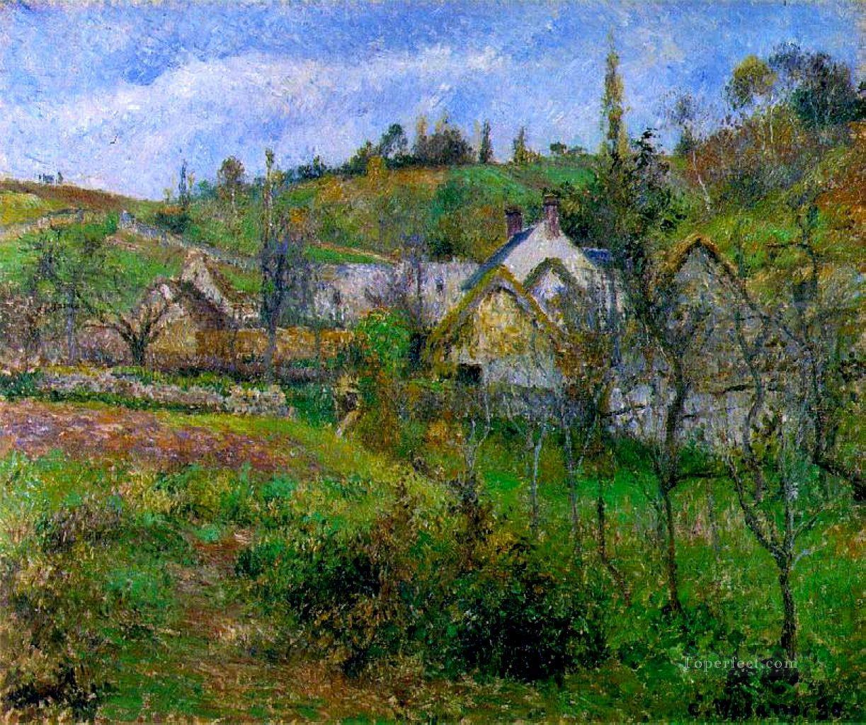 le valhermeil near pontoise 1880 Camille Pissarro scenery Oil Paintings