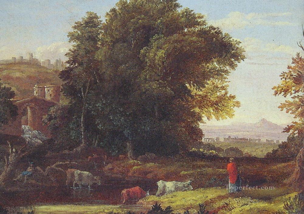 Italian Lanscape with Adueduct Tonalist George Inness scenery Oil Paintings