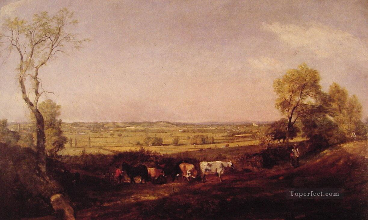 Dedham Vale Morning Romantic landscape John Constable Oil Paintings
