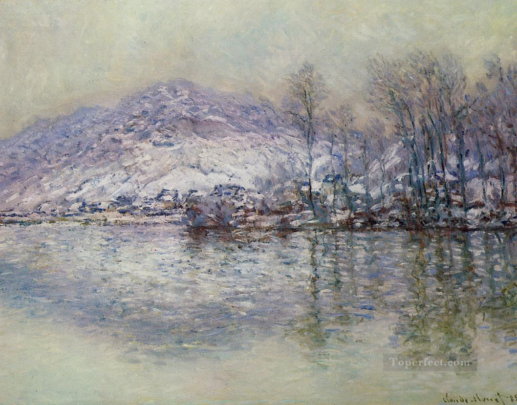 The Seine at Port Villez Snow Effect Monet Oil Paintings