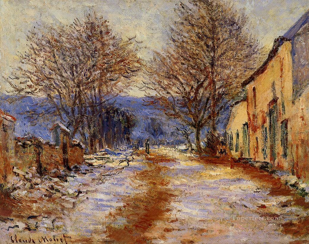 Snow Effect at Falaise Monet Oil Paintings