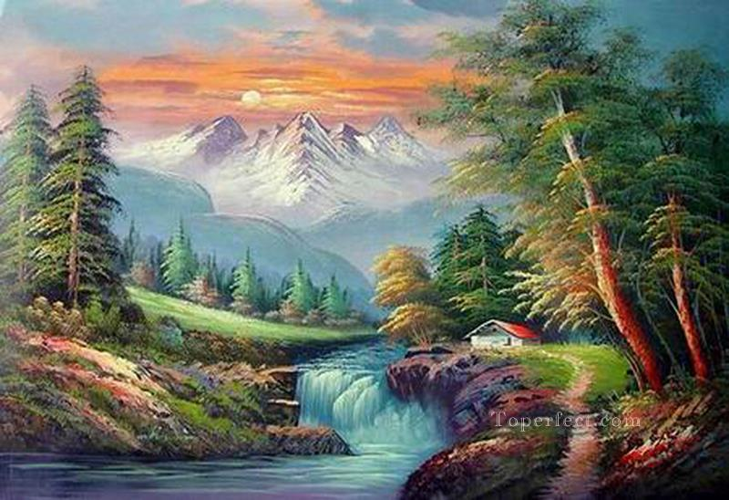 Cheap Vivid Freehand 15 Style of Bob Ross Oil Paintings