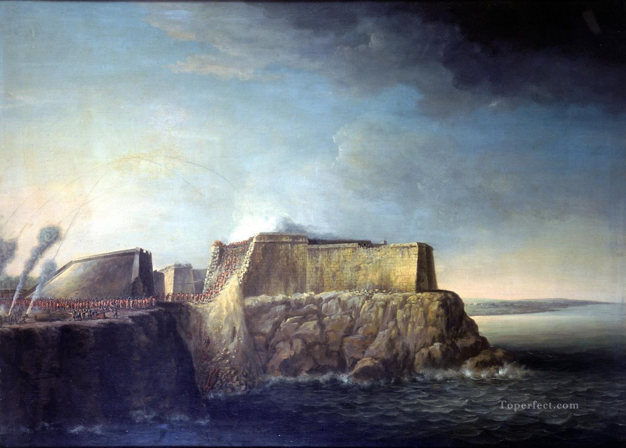 Dominic Serres the Elder The Capture of Havana 1762 Storming of Morro Castle Naval Battles Oil Paintings