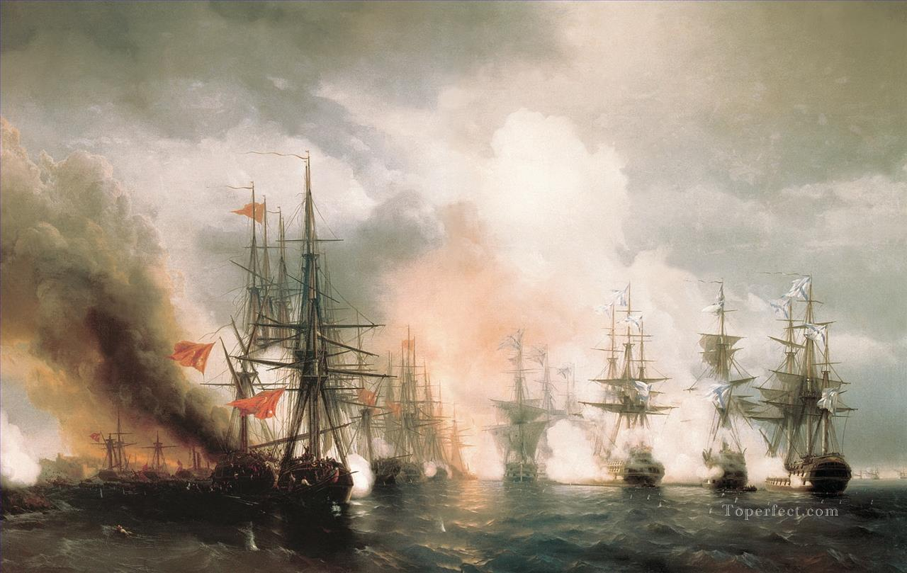 battle of sinop the day Oil Paintings
