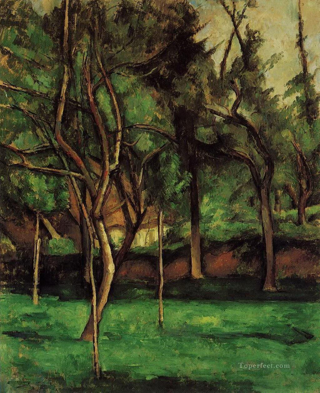 Orchard Paul Cezanne woods forest Oil Paintings