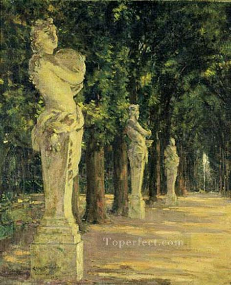 Allee de lEte Versailles impressionism landscape James Carroll Beckwith woods forest Oil Paintings
