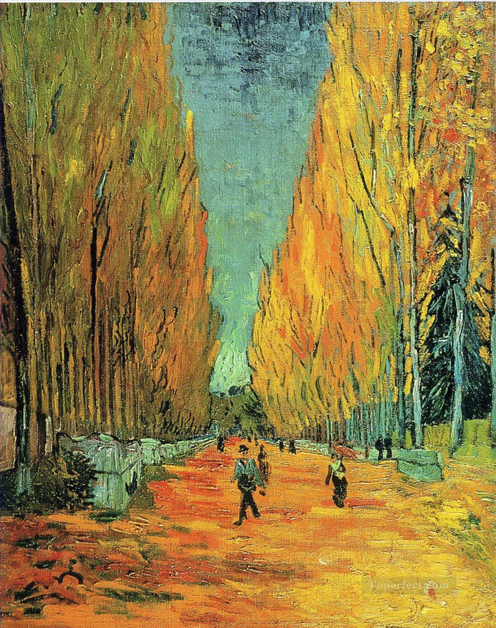 Alychamps Vincent van Gogh woods forest Oil Paintings