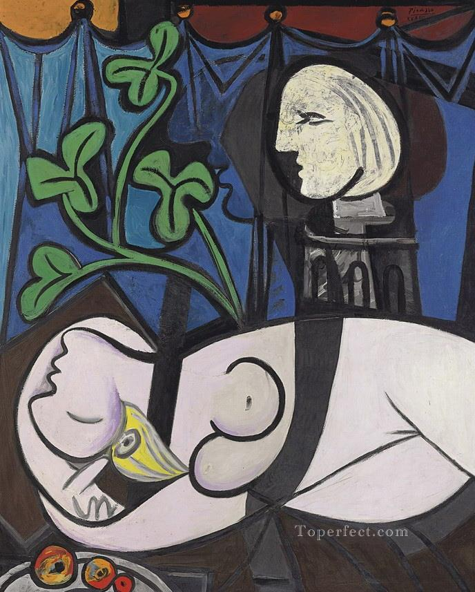 Nude Green Leaves and Bust 1932 Abstract Oil Paintings