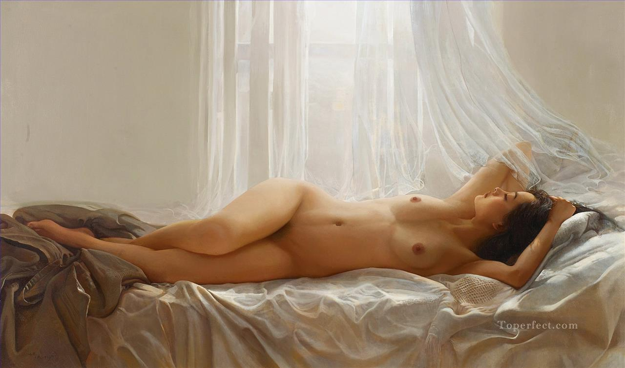 Dream of Memory Chinese Girl Nude Oil Paintings