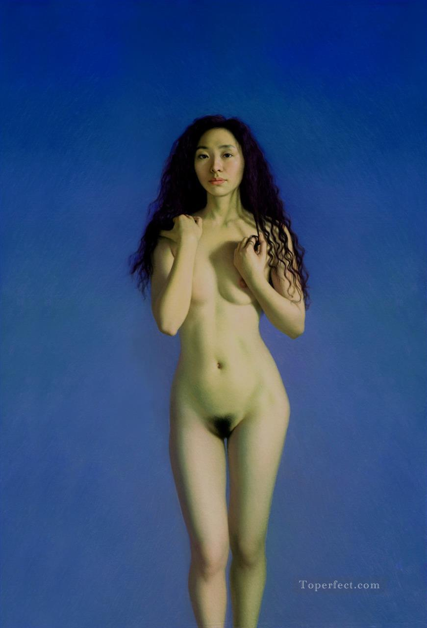 Spring Chinese Girl Nude Oil Paintings
