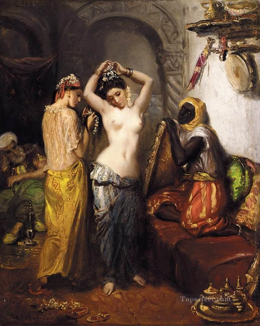 Orientalist Interior romantic Theodore Chasseriau nude Oil Paintings