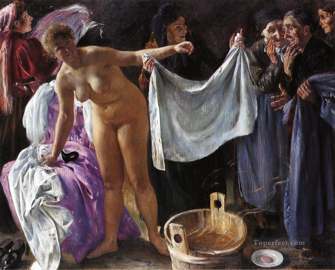 nude witches Witches Lovis Corinth nude Oil Paintings