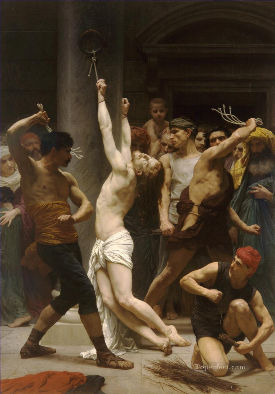 The Flagellation of Christ William Adolphe Bouguereau nude Oil Paintings