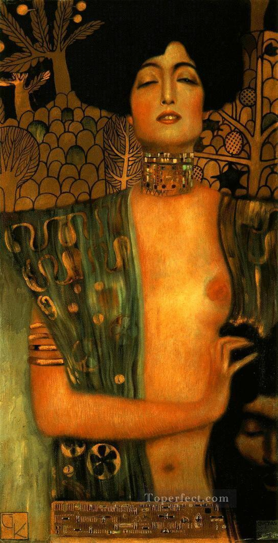 Judith and Holopherne dark Gustav Klimt Impressionistic nude Oil Paintings