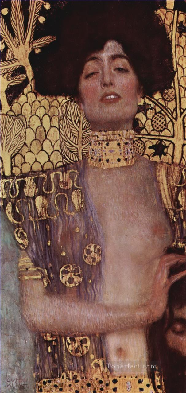 Judith and Holopherne grey Gustav Klimt Impressionistic nude Oil Paintings