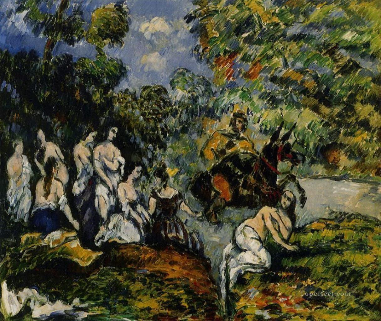 Legendary Scene Paul Cezanne Impressionistic nude Oil Paintings