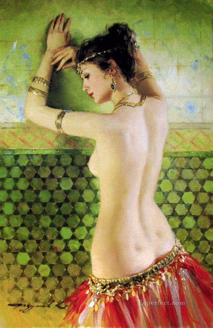 Pretty Woman KR 009 Impressionist nude Oil Paintings