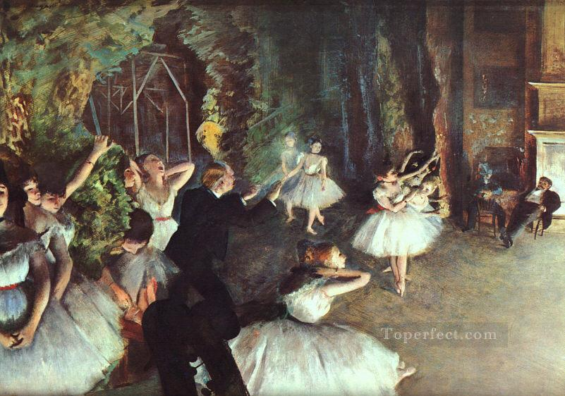 Rehearsal on the Stage Impressionism ballet dancer Edgar Degas Oil Paintings
