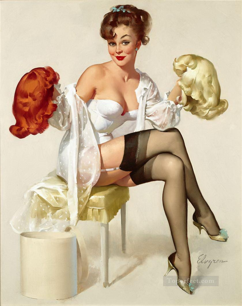 up23.jp girl Gil Elvgren pin up 23 Oil Paintings