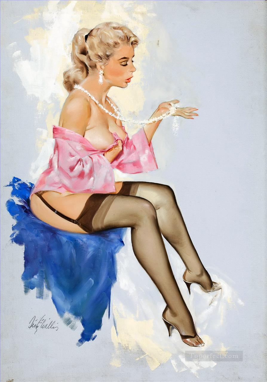 pin up girl nude 030 Oil Paintings