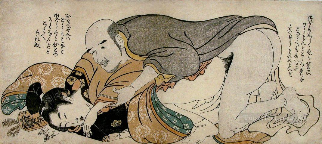 male couple 1802 Kitagawa Utamaro Sexual Oil Paintings