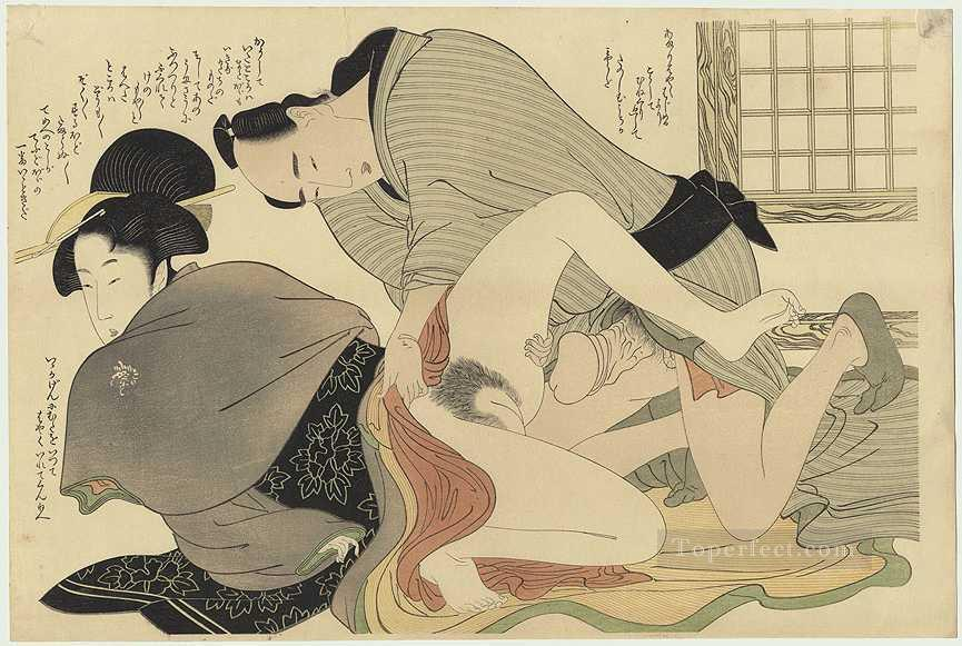 Prelude to Desire Kitagawa Utamaro Sexual Oil Paintings