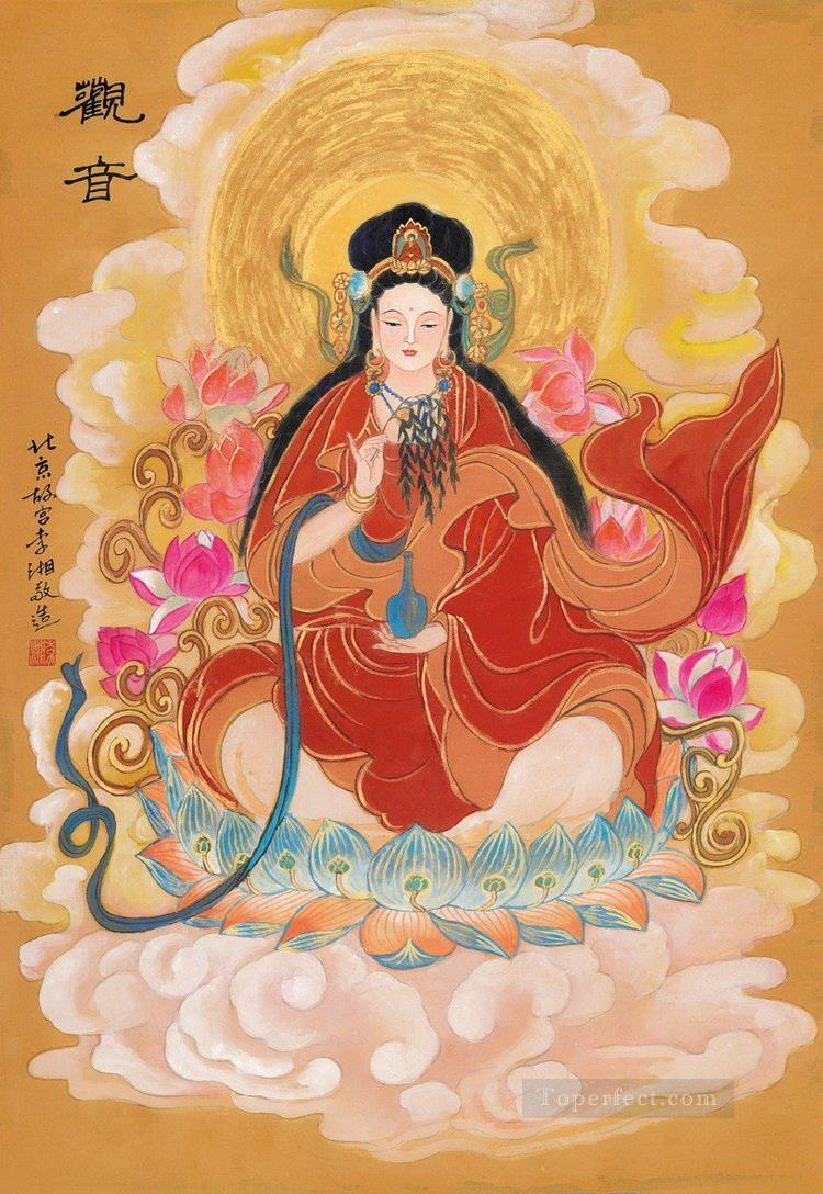Guan Yin Chinese Buddha Buddhism Oil Paintings