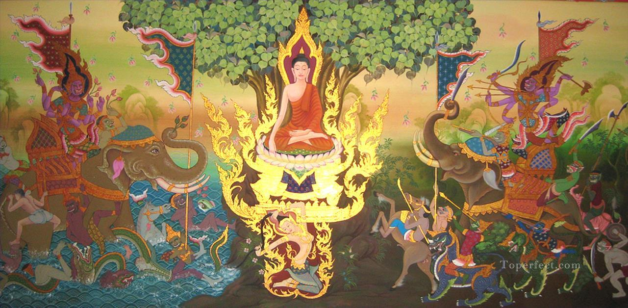 Buddha and evil Buddhism Oil Paintings