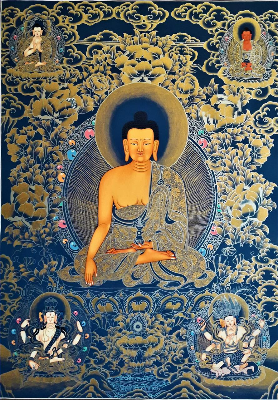 Shakyamuni Buddha Thangka 2 Buddhism Oil Paintings
