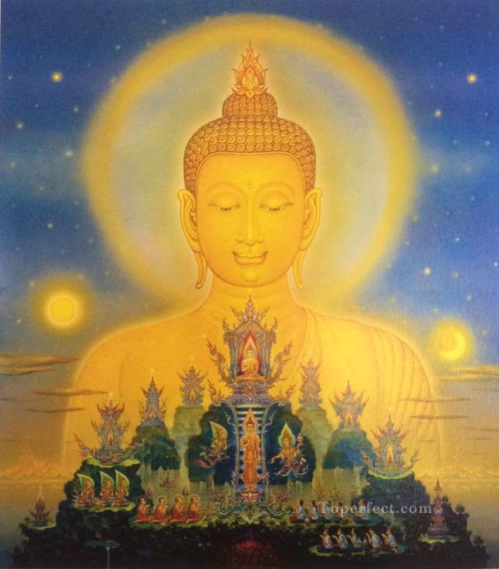 contemporary Buddha fantasy 009 CK Buddhism Oil Paintings