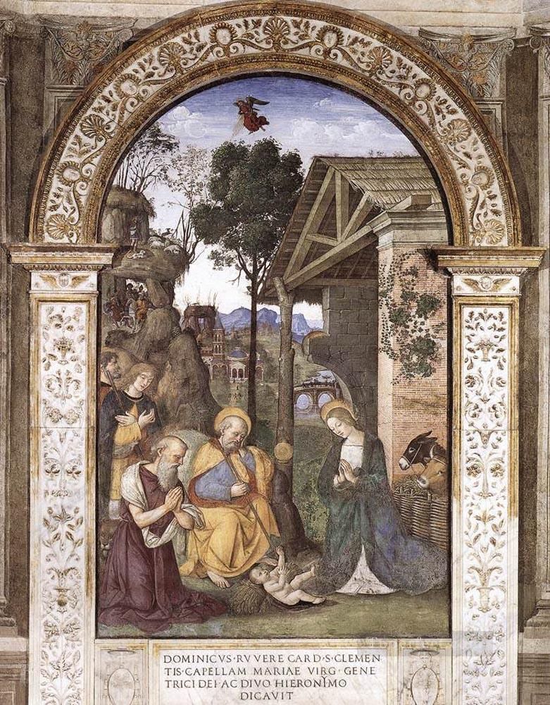 Adoration Of The Christ Child religious Christian Pinturicchio Oil Paintings