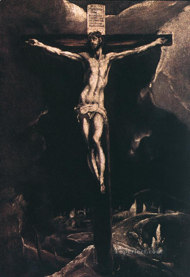 Christ on the Cross 1585 religious El Greco Oil Paintings