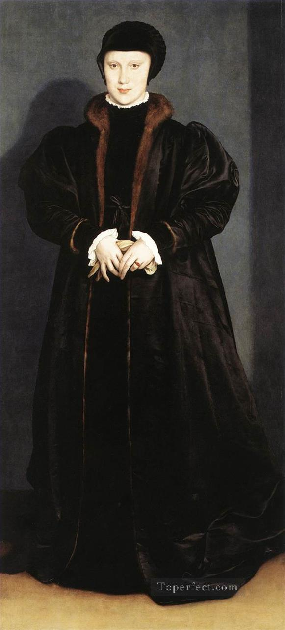 Christina of Denmark Ducchess of Milan Hans Holbein the Younger Oil Paintings