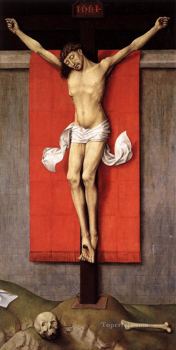 Crucifixion Diptych right panel religious painter Rogier van der Weyden religious Christian Oil Paintings
